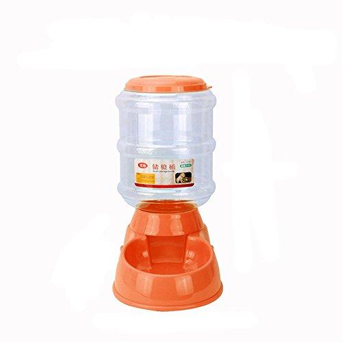 sunnymi 3.5L Automatisch Fressnapf,Feeder Gerät Hund Näpfe,Klassische LOVE 2018 Hundewelpen Haustiere,Wasser Essen Feeder Brunnen Puppy Dog Cat Bowl (32.5*17.5*30.5cm, orange)