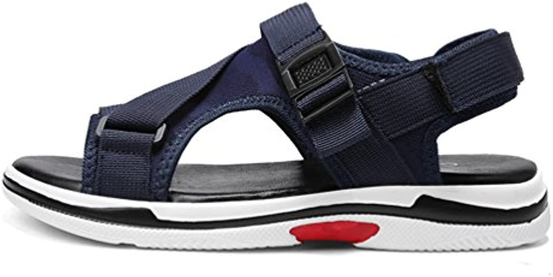 Sandaletten Herren Entspannt Atmungsaktive Peep Toe Rund Toe Offenen Klettverschluss Klassisch Rutschfest Sandalen