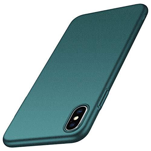 Arkour für iPhone XS Hülle, iPhone X Hülle, Minimalistisch Ultradünne Leichte Slim Fit Handyhülle mit rutschfest Matte Oberfläche Hard Case für iPhone XS (2018)/iPhone X (2017) - Kies Grün Slim Fit Hard Case