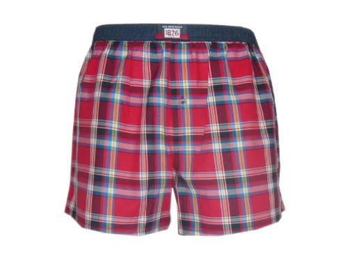 Jockey Woven Boxer Short (Small, USA Originals Red Checked) (Jockey-boxer Woven)