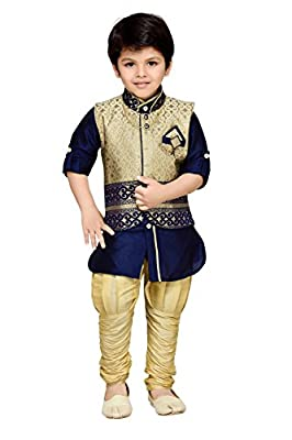 AJ Dezines Kids Kurta Pyjama and Waistcoat Set for Boys