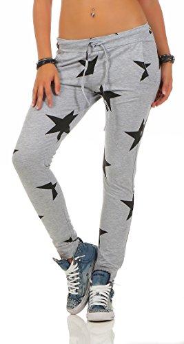 Mr. Shine Damen Sweatpants Baggy Hose Boyfriendhose Freizeithose Jogginghose Fitness Sporthose Yogapants Jogger Loose Fit Big Star S-XXXL (M, Hell Grau)