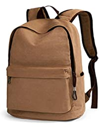 sports shoes 5f1ce 6ee88 Sac à Dos étudiant Casual Backpack Canvas Outdoor Outdoor Backpack, Kaki  Noir (Couleur