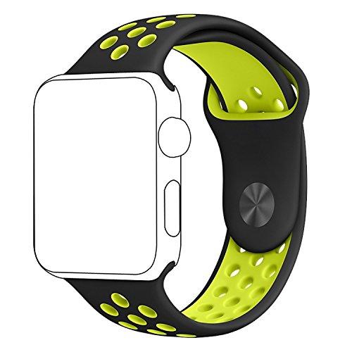 Cinturino Apple Watch, ZRO Molle Silicone Nike+ Sport Banda Sostituzione Cinturino Orologio per Nuovo Apple iWatch Serie 2/ Serie 1 42mm M/L
