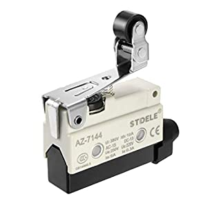 sourcing map AZ-7144 SPDT 1NO+1NC Panel Mount Roller Plunger Type Momentary Micro Limit Switch