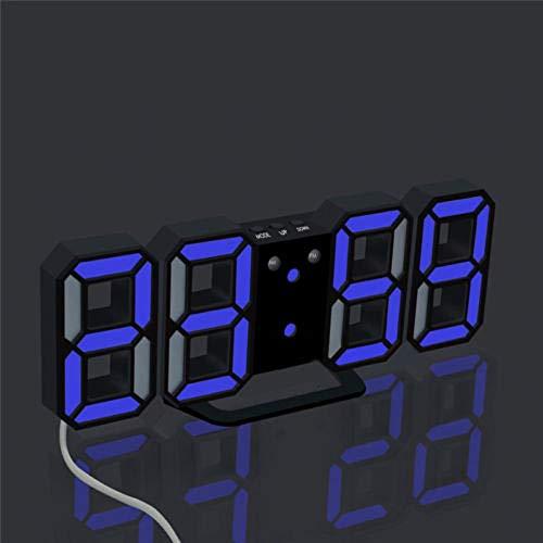 Dtuta Led-Auto-Dimmer-Snooze-Funktion Tischuhren Modern Wecker Digital Aufgeladen