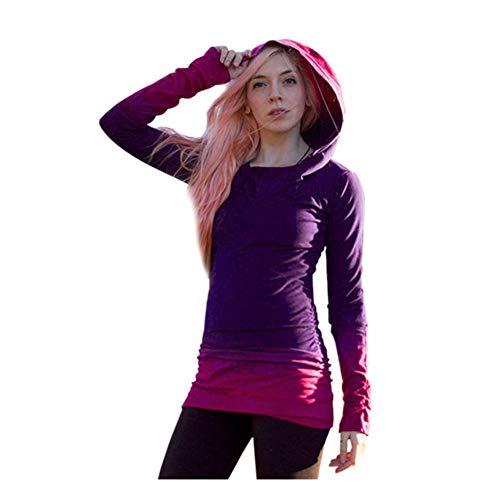 iHENGH Damen Frauen Hoodies Sweatshirts Langarm Mit Kapuze Farbverlauf - Lila Kostüm Tmnt