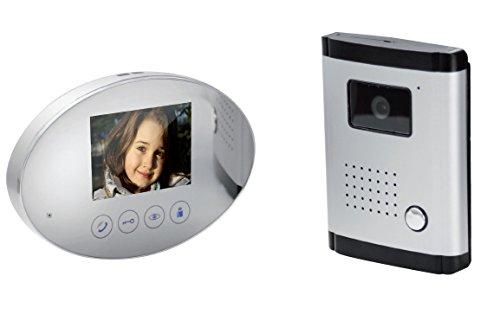 SCS Sentinel 4Wires Oval Mirror Video Door Intercom System