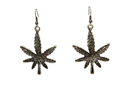 Lux Accessories Ohrhänger Marihuana Topf Blatt Unkraut 420 Tropfen - Für Unkraut Ohrringe Männer