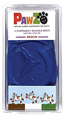 Pawz Dog Boots Medium,12 Pack, Blue by Protex
