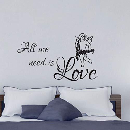 Yzybz Süßes Und Romantisches Schlafzimmer, Das Alles Verziert, Das Wir Benötigen, Ist Liebes-Engel-Wand-Aufkleber Pvc-Entwurf Für Kopfteil
