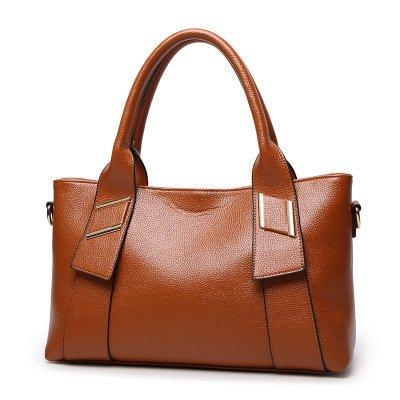 Mefly Nuova Moda Borsa Donna In Europa E In America Big Bag Semplice Borsa A Tracolla Blu brown