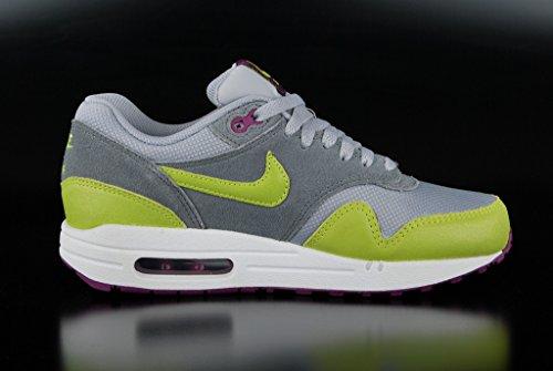 Nike Wmns Air Max 1 Essential 599820 Damen Low-Top Sneaker Mehrfarbig 36.0EU/ 22.5cm Grau/Limette