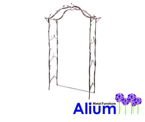 "floristikvergleich.de Alium Rosenbogen ""Harrogate"" aus Stahl, braun"