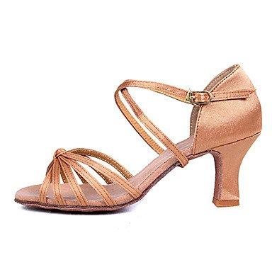 Silence @ Chaussures de danse pour femme pour Latin/Salsa avec talons/2couleurs marron
