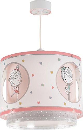 Dalber sweet dance lampada bambini ciondolo con motivo ballerina, multicolore