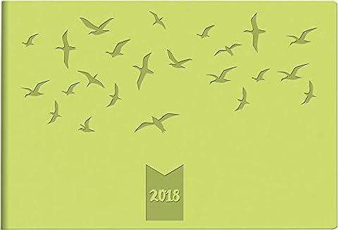 rido/Idé 701751503Septimus, 2Side Pocket Diary 1Week, 152x 102mm Calendar 2018Trend PU Leather Cover green