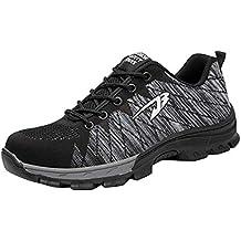4f8e1ed66955c RSHENG Zapatos Botas para Calzado De Seguridad para El Trabajo Unisex  Calzado De Acero para