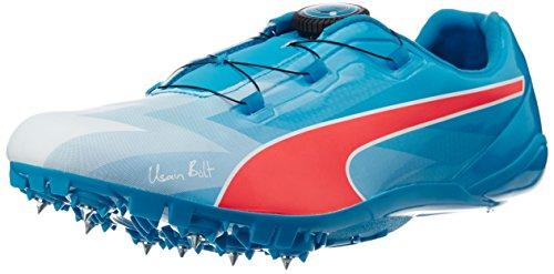 Puma Bolt EvoSPEED Disc, Unisex Adults Running Shoes, Multicolor (Atomic Blue/Red Blast), 7 UK (40.5 EU)