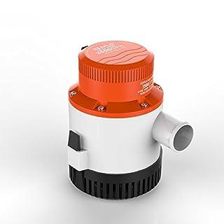 LIGHTEU, DC 12V 3500GPH Bilge Pump Submersible Water pump for marine, boats, yacht, caravan, camping, outdoor, garden.