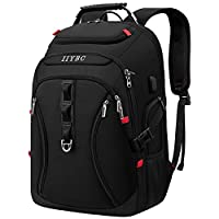Travel Laptop Backpack,15.6-17.3 Inch Business Laptop Backpack Bag with USB Charging Port,TSA Water Resistant Daypack School Luggage Computer Rucksack for Men/Women