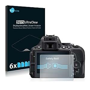 6x Savvies Pellicola Protettiva per Nikon D5500 Protezione Proteggi Schermo Trasparente