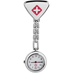 Gleader Clip Nurse Doctor Triangle Pendant Pocket Quartz Watch