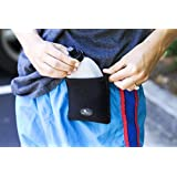 "Buddy Pouch H2O (Black)- Magnetic Personal Hydration Pouch. No Belt or Clip. (4"" L x 4"" W)"