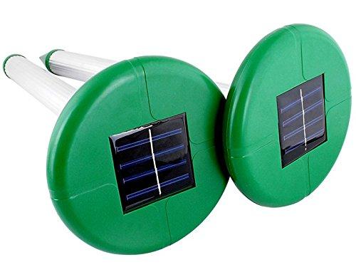 Iso Trade Solar Maulwurfabwehr Maulwurfschreck 2 Stück Mäuse Schreck 400-1000Hz/25Sec #219