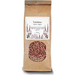 Erikablüten (Heidekraut-Blüten), gerebelt, 100g - 100% sortenreines Premium-Produkt, naturbelassen und ohne Zusätze. (Calluna vulgaris, Heidekraut, Heidekrautblüten, Besenheide)