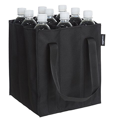 AmazonBasics - Flaschentasche, 9 Fächer, 0,75 l Flaschen, Schwarz -