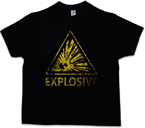 01b02e1bbaaa6d Urban Backwoods Caution Explosive Vintage Logo Sign Niños Chicos Kids T- Shirt Warning Danger Explosion