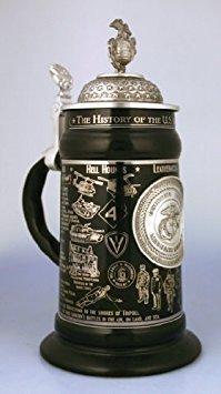 Marine Corps Adler, Globus Und Anker (0,75 Liter US Marine Corps Keramik Bierkrug von Oktoberfest Haus)