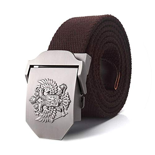 tteuion luxury belts 2019 Militärgürtel mit russischem Nationalemblem, Metalllegierung, Militär-Stil, taktische Gürtel, für Damen - Braun - 115 cm -