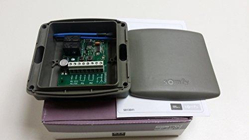 SOMFY–Récepteur standard RTS SOMFY. 433,42MHz 2canaux, 24VCC/vac pour toutes les télécommandes SOMFY RTS. Numéro de Catalogue: 2400556/1841022