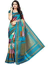 Mrinalika Fashion Women'S Art Silk Saree With Blouse sarees new collection 2018 (blue)