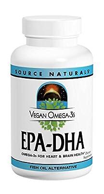 Source Naturals Omega-3 Vegan EPA-DHA, 60 sgels 350 mg from Source Naturals