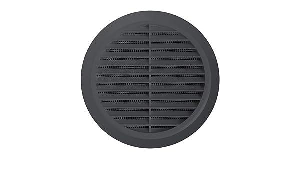 D/&S Vertriebs Grille da/ération ronde en plastique pour moustiquaire Anthracite /Ø 80 mm