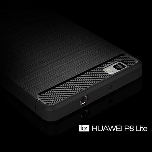 UKDANDANWEI iPhone 7 Plus Etui - Souple TPU Protection Bumper Housse Silicone Gel Résistant Case pour iPhone 7 Plus Rouge Gris
