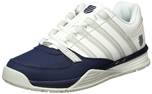 K-Swiss BAXTER, Sneakers basses homme Bleu (Navy/White/Dawn Blue 474)