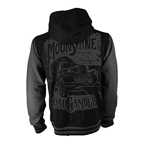 ROAD RODEO Kapuzenpullover, Hoodie, Baseball, College Jacke, Rock'n'Roll, Hot Rod, V8, Moonshine