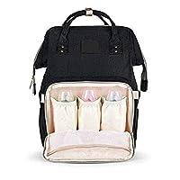 Fashion Mummy Maternity Nappy bag Nursing bag For Baby Care-Black