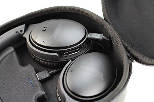 Broonel Kopfhörer Schutztasche Fallbeutel Aufbewahrungstasche tasche / Case mit Powerbank für den Bose QuietComfort 35 - 3
