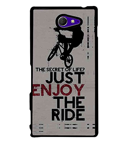 Fiobs High Glossy Designer Phone Back Case Cover Sony Xperia M2 Dual :: Sony Xperia M2 Dual D2302 ( Stunt Rider Bike Cycle Racer )  available at amazon for Rs.397