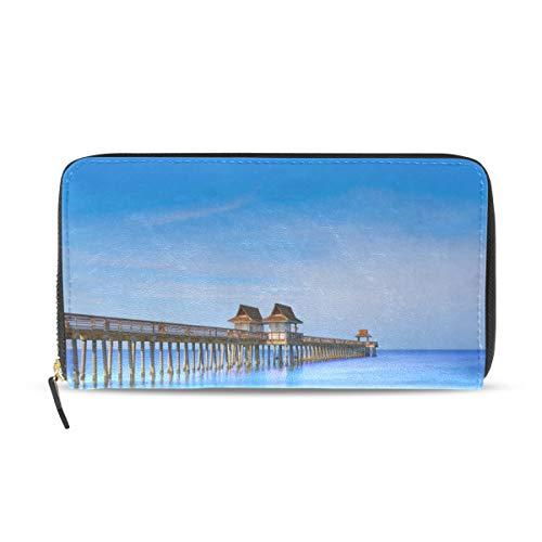 Florida Uns Strand Ozean Landschaft Lange Passport Clutch Geldbörsen Reißverschluss Brieftasche Fall Handtasche Geld Organizer Tasche Kreditkarteninhaber Für Dame Frauen Mädchen Männer Reise Geschenk