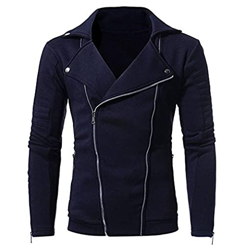 Sannysis Männer Langarm Cardigan Sweatshirt Tops Jacke Mantel Outwear Strickjacke (3XL, Marine)