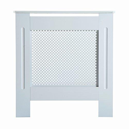 Homcom copritermosifone in legno copertura moderna 78 × 82 × 19cm verniciato bianco