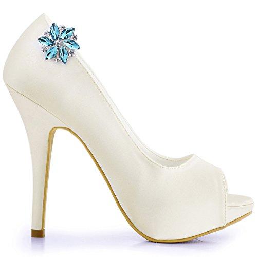 ElegantPark AJ Damen Passenden Fashion Tanzschuh Party Schuhe Clutch Tasche Hat Kleider Strass Schuh clips 2 St¨¹ck Himmelblau