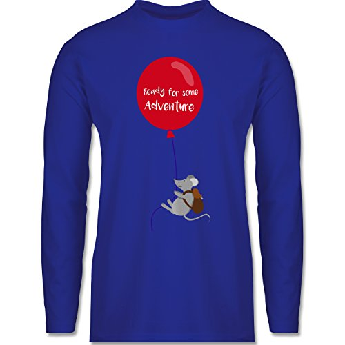 Sonstige Tiere - Ready for some Adventure - Longsleeve / langärmeliges T-Shirt für Herren Royalblau
