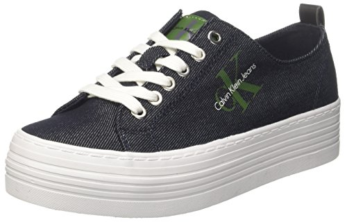 Calvin Klein Jeans Zolah Denim, Sneakers Basses Femme